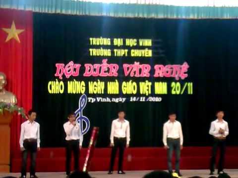 Hot   Văn nghệ 20 11 của K44A5      Trường THPT Chuyên ĐH Vinh