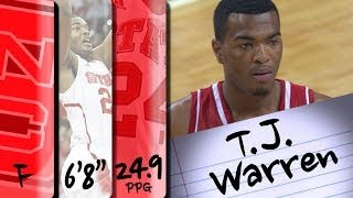 Official Highlights | NC State Forward <b>T.J. Warren</b> (#14 Pick in the ...
