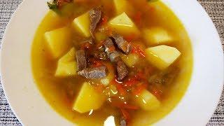 Картофельный суп с мясом Быстро и вкусно