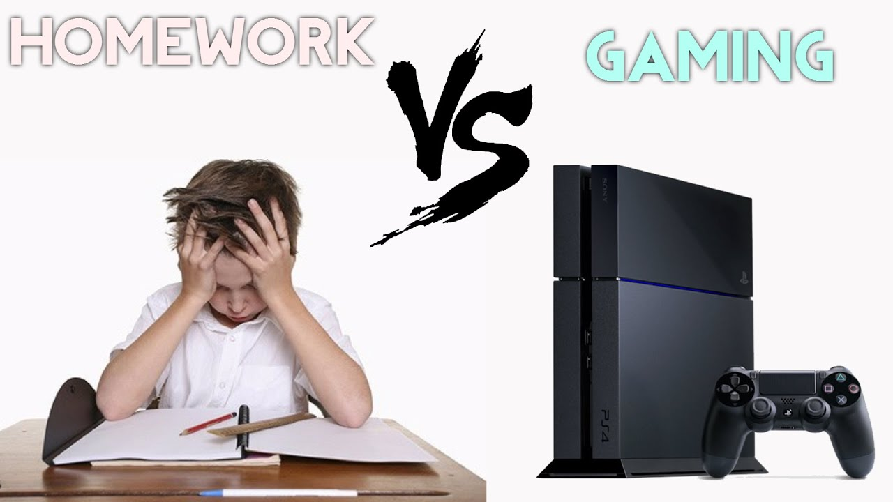 Homework vs Video Games - The Tale of a Gamer