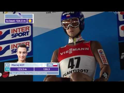 Piotr Żyła 3 miejsce - MŚ LAHTI HS130 - Wszystkie Skoki Polaków 02.03.2017 (HD)