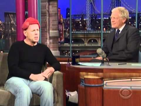 Bruce Willis Shows Off His Lady Gaga-Inspired Meat Hairpiece