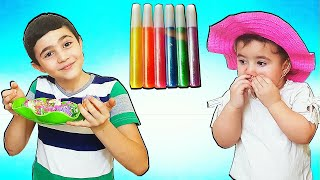 Celina Makes PlayDoh CupCake  - سيلينا وحسونة مع المعجون والكيك للاطفال