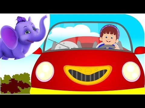 I Love My Red Car - Nursery Rhyme with Karaoke