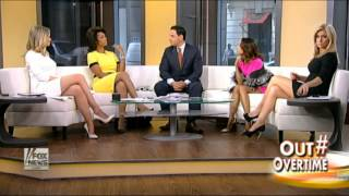 Ainsley Earhardt & Sandra Smith hot legs - Outnumbered - 05/14/15