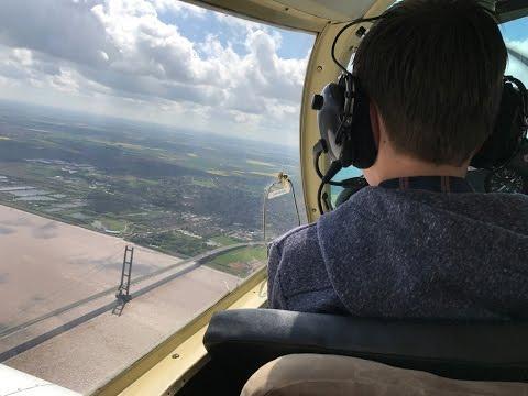 Luke Otter - 1st Flight from Humberside Airport - Frank Morgan G-BEAC Piper PA28
