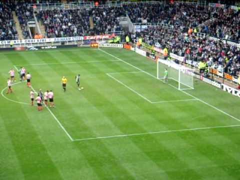 Shola Ameobi penalty scored 01/02/2009 v sunderland
