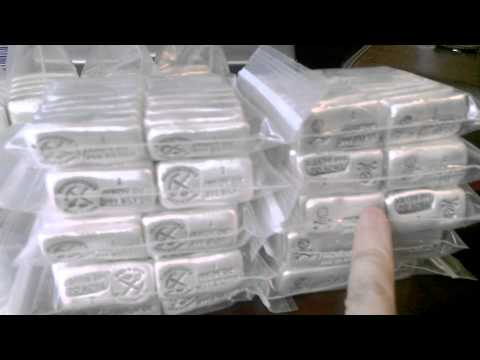 1000 oz silver bar shipment Going out from Prospectors Gold and Gems