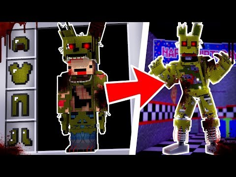 HOW TO BECOME SPRINGTRAP.EXE FROM FIVE NIGHTS AT FREDDY'S - Minecraft FNAF
