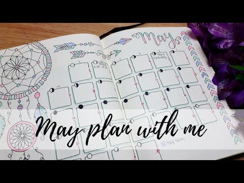 Bullet Journal - May 18 Plan with me