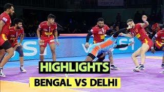 Pro Kabaddi 2019 Highlights [Hindi]: Bengal Warriors vs Dabang Delhi K.C | Sports Tak