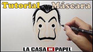 Como Desenhar a Máscara La Casa de Papel - How to Draw the Mask The Paper House