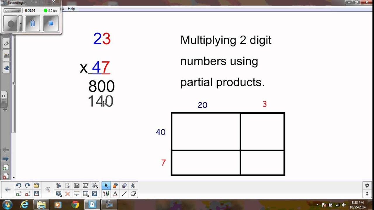 Multiplying 2 Digits With Regrouping