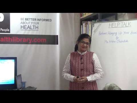 Before Hanging Up Your Boots By Ms. Nisha Chandak HELP Talks Video