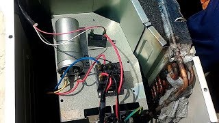 How to connection Split type AC with magnetic conductor. AC ম্যাগনেটিক কন্টাকটর দিয়ে কানেকশন ।