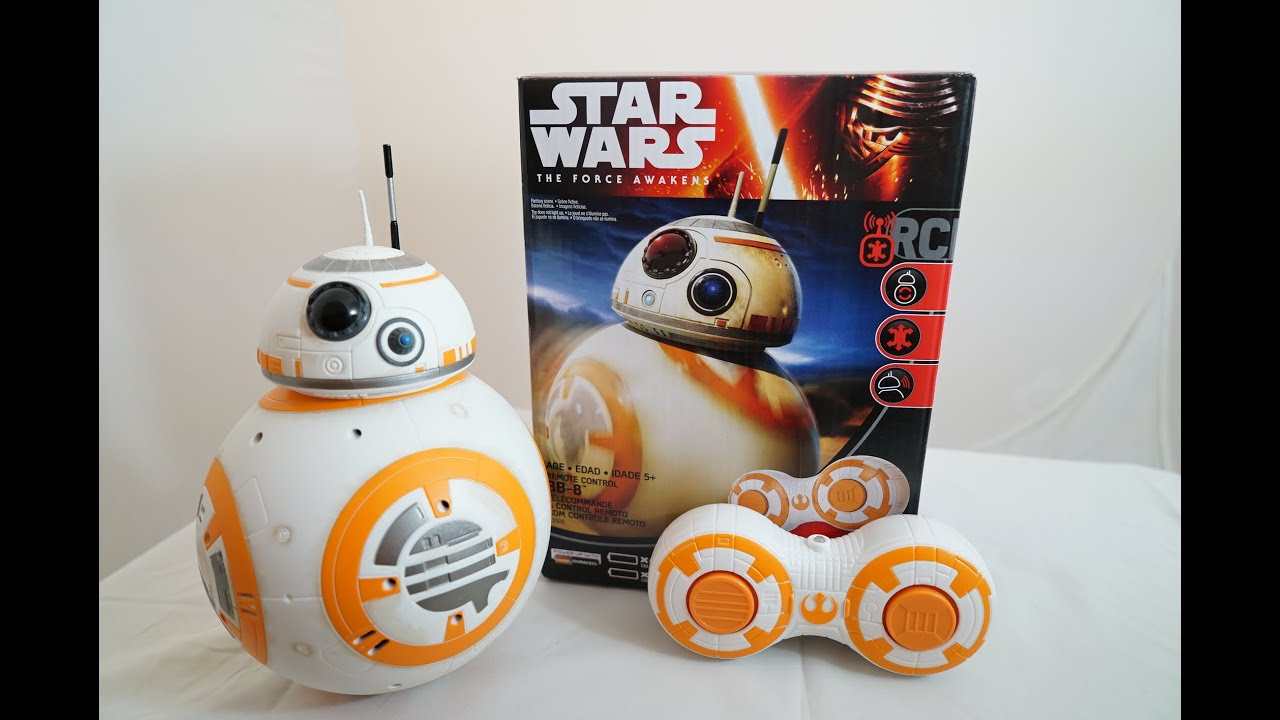 Remote Control Bb8 >> Star Wars The Force Awakens BB-8 RC Remote Control Hasbro Episode 7 Review - YouTube