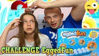 CHALLENGE  EGGEDON  Z TATĄ - jajka z ekstremalną zawartością - Egg Roulette Challenge