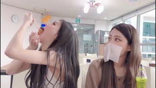 [DIA EUNICE] 다이아의 인가매점 먹방 V-log(샌드위치, 밥부리또, 라면, 스팸, 김밥)