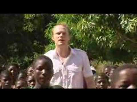 Soccer Aid films - Paul Bettany in Mozambique