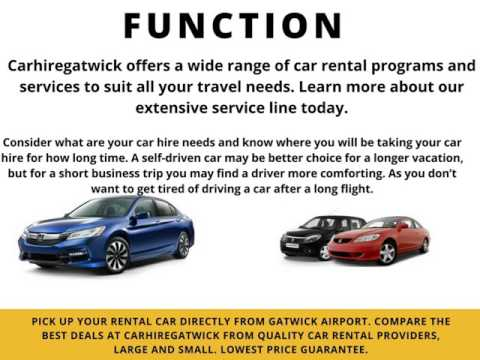 Gatwick Car Rental services from United kingdom
