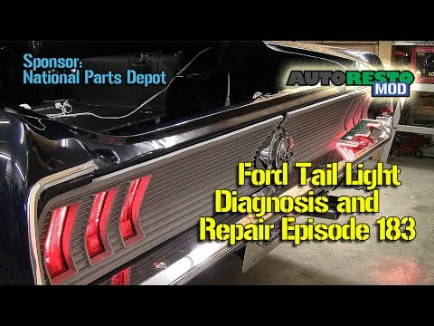 2002 mustang headlight wiring diagram fluorescent light diagnose and repair ford brake or turn signal lights episode 183 autorestomod
