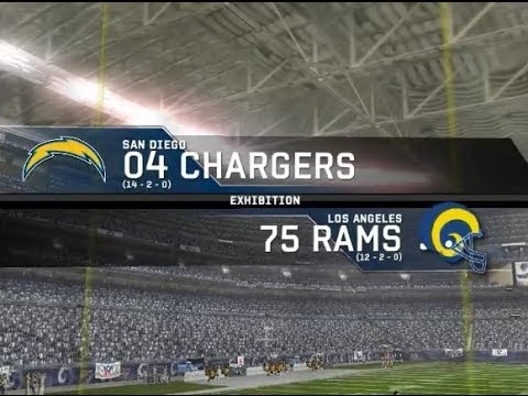 2004 San Diego Chargers vs. 1975 Los Angeles Rams