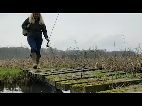 Fly Fishing Girl Catches STUNNING brown trout on dry fly: Derbyshire river Wye