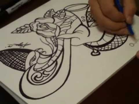 Spit Shading A Traditional Tattoo Flash Design