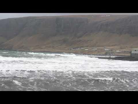 Bad weather in Hvalba - Faroe Islands
