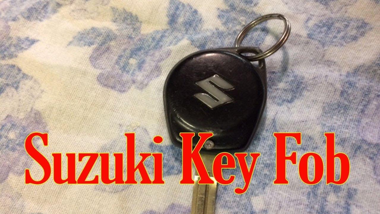 Suzuki Key Fob Battery Change Youtube