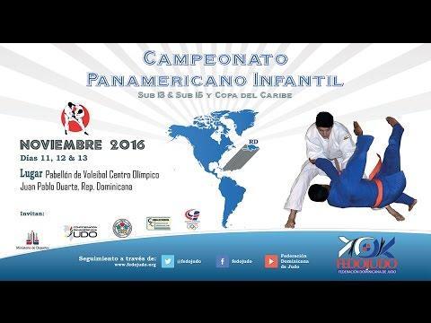 FEDOJUDO: Campeonato Panamericano Infantil -  Inauguración y 2da Tanda