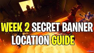 *NEW* FORTNITE WEEK 2 SECRET BANNER LOCATION SEASON 8 HIDDEN BATTLE STAR GUIDE