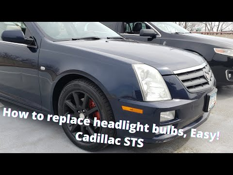 Easy Diy Headlight Bulb Replacement Cadillac STS