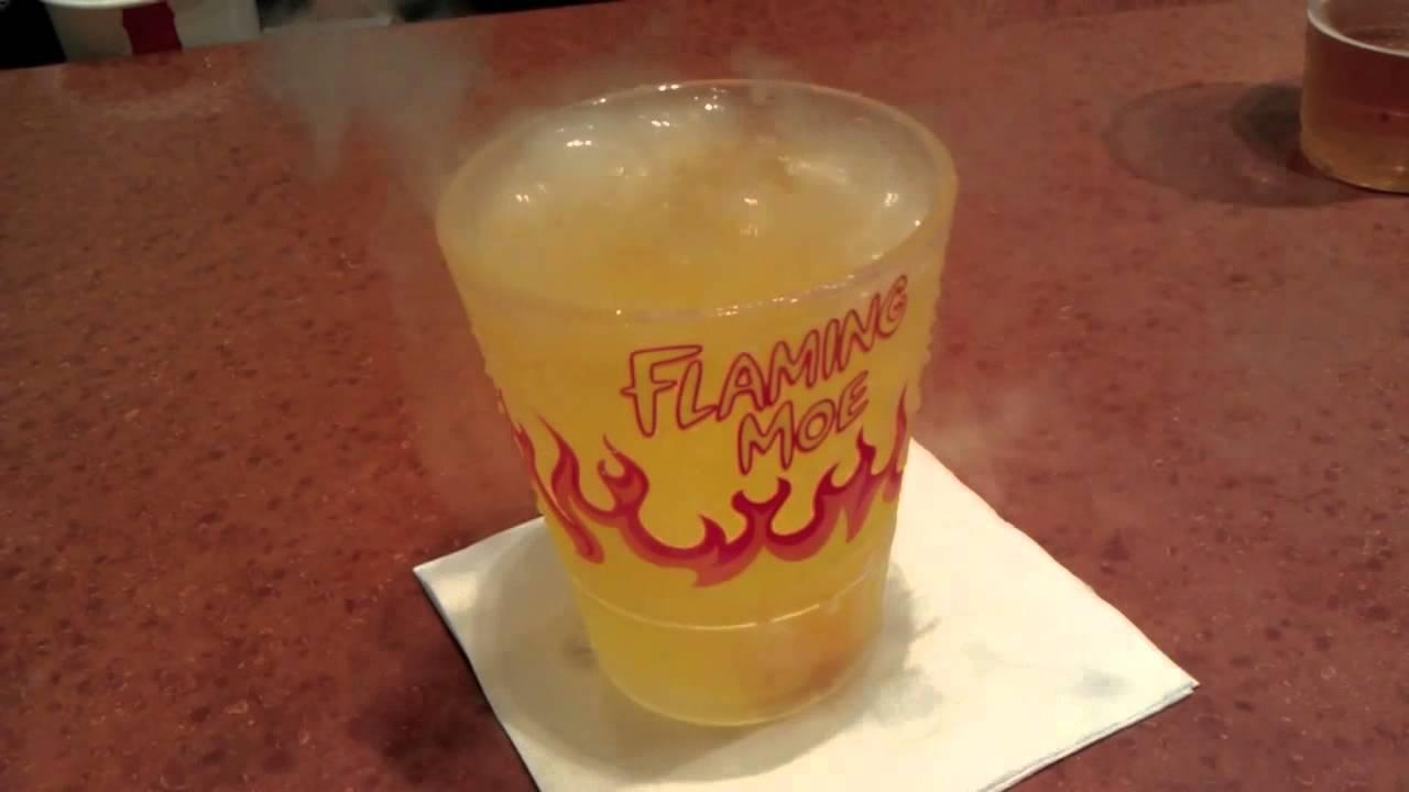 Flaming Moe Drink at Moe's Tavern - YouTube