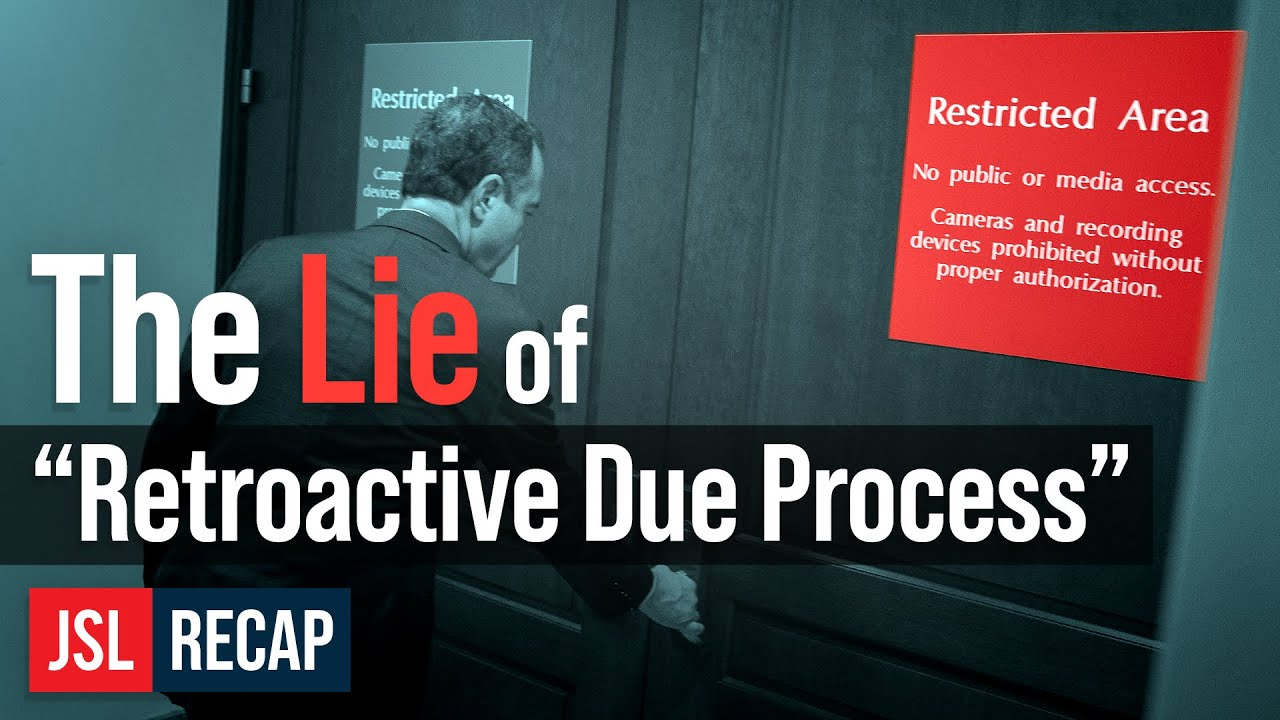 """ACLJ The LIE of """"Retroactive Due Process"""" - Changing the Rules Not Off the Table for House"""