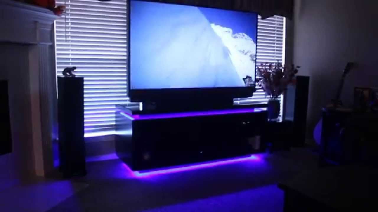 home theater led lighting. Home Theater System And Custom Entertainment Cabinet With Led Lighting - YouTube .