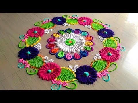 How to make rangoli/rangoli /rangoli design /rangoli designs