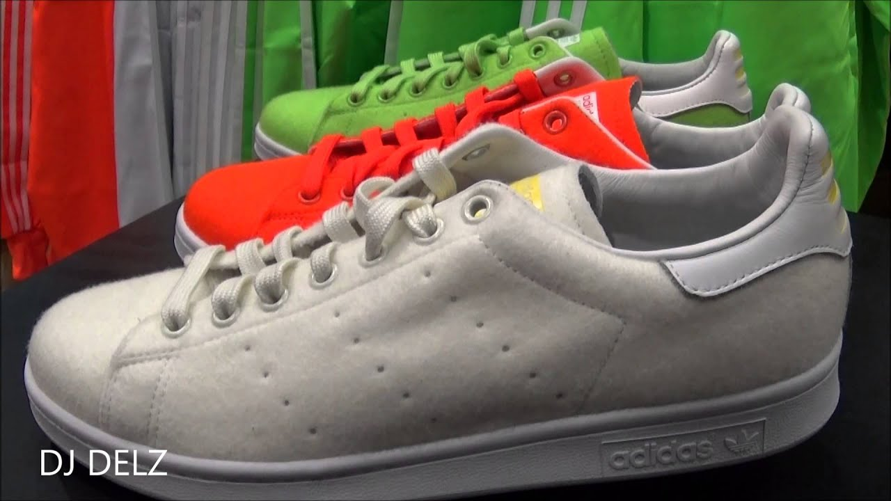 Pharrell adidas originali stan smith collezione di scarpe su youtube