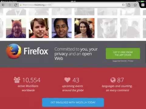 Firefox web browser for iPad