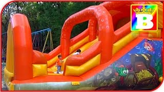 HUGE Outdoor INFLATABLES PLAYGROUND  Giant Slides  Play Park Kids FUN Playing Area  Bogdan`s Show