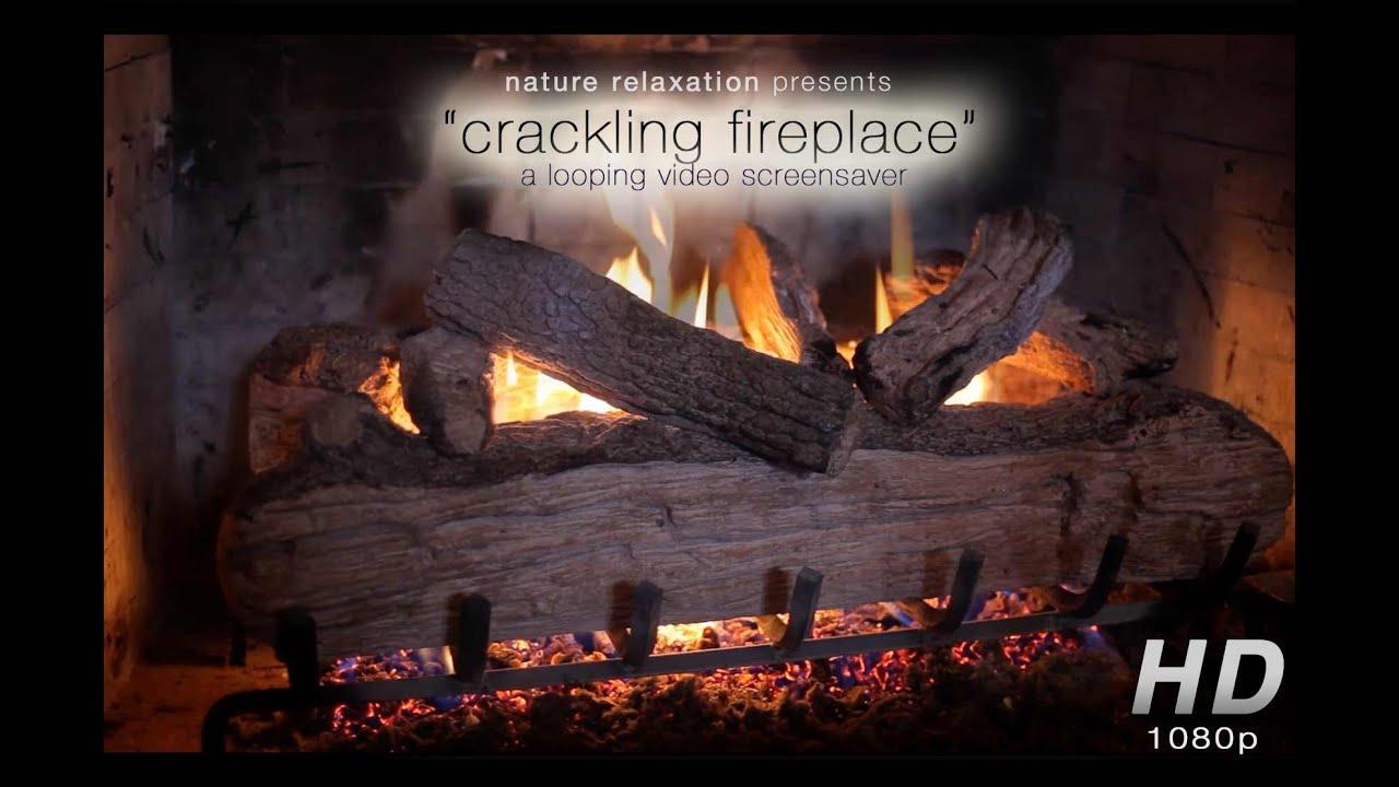 HD Crackling Fireplace: 1 Hour Digital Background / Christmas ...