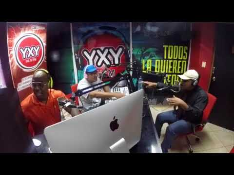 RUFF DAD en vivo freestyle radio estacion yxy panama junto al productor andy y dj lea