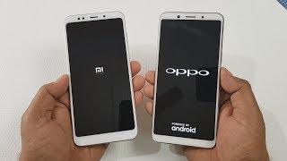 Redmi Note 5 vs OppO F5 Speed Test Comparison !