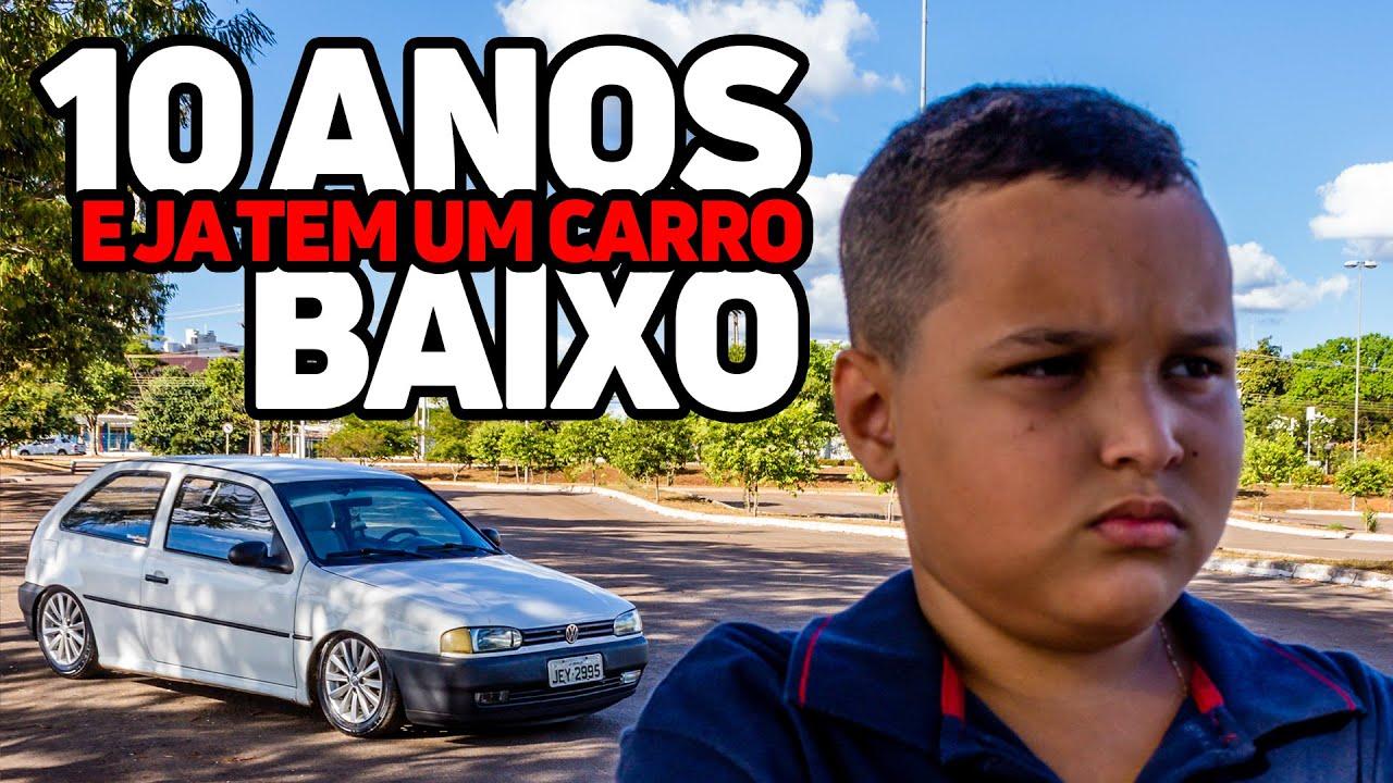 10 ANOS de idade e ja tem um carro baixo! PAI E FILHO UNIDOS PELA PAIXÃO POR CARRO BAIXO!