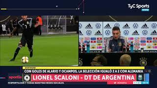 Scaloni explicó qué cambió en Argentina para lograr el empate ante Alemania