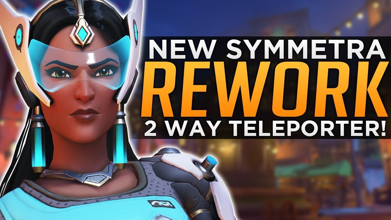 Overwatch: NEW Symmetra Rework Update! - 2-Way Teleporter!