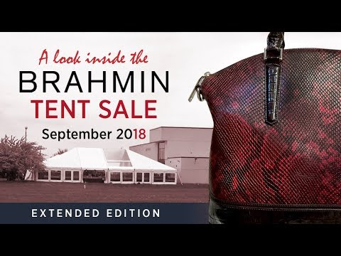a6fc1b33d8 A look inside the Brahmin Tent Sale September 2018 - YouTube