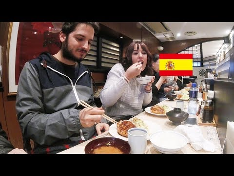 スペイン人が極上とんかつを食す!/ Spanish couple eats Tonkatsu, pork cutlet! thumbnail