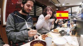 スペイン人が極上とんかつを食す!/ Spanish couple eats Tonkatsu, pork cutlet!