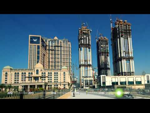 Al Habtoor City Construction Progress Time-lapse (April 2012 – May 2017)